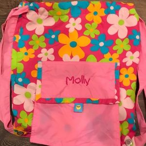 """""""Molly"""" Embroidered draw string bag"""
